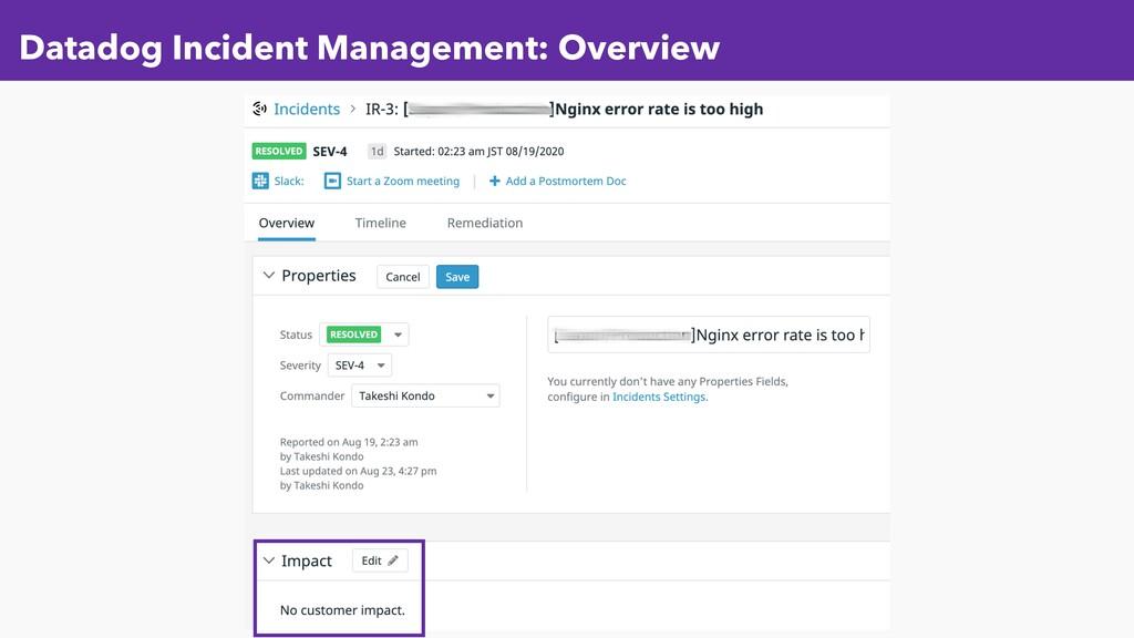 Datadog Incident Management: Overview