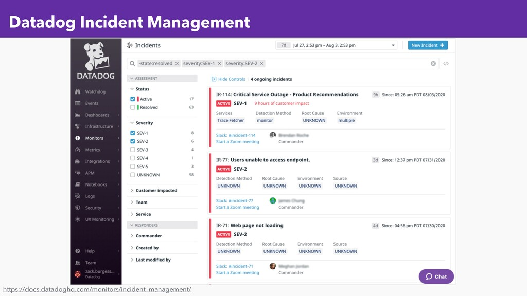 Datadog Incident Management https://docs.datado...