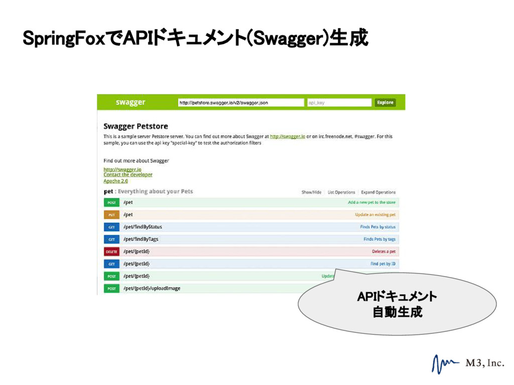 SpringFoxでAPIドキュメント(Swagger)生成 APIドキュメント 自動生成