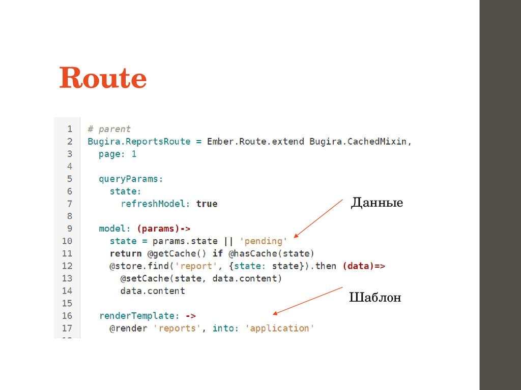 Route Данные Шаблон
