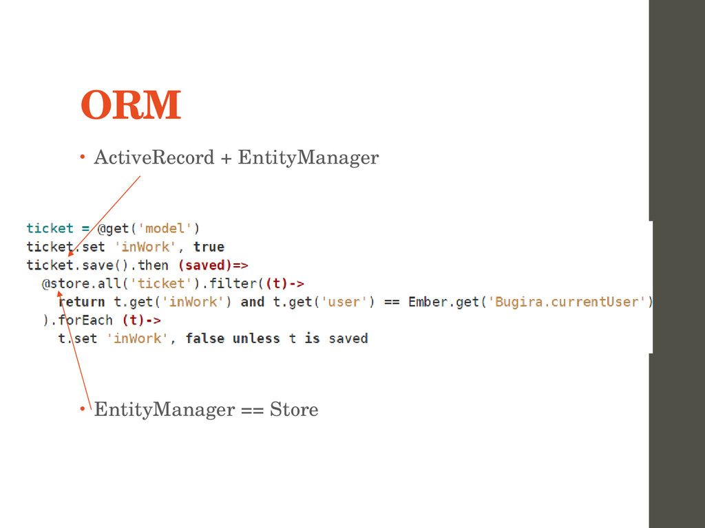 ORM • ActiveRecord + EntityManager • EntityMana...