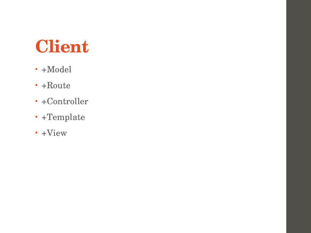Client • +Model • +Route • +Controller • +Templ...