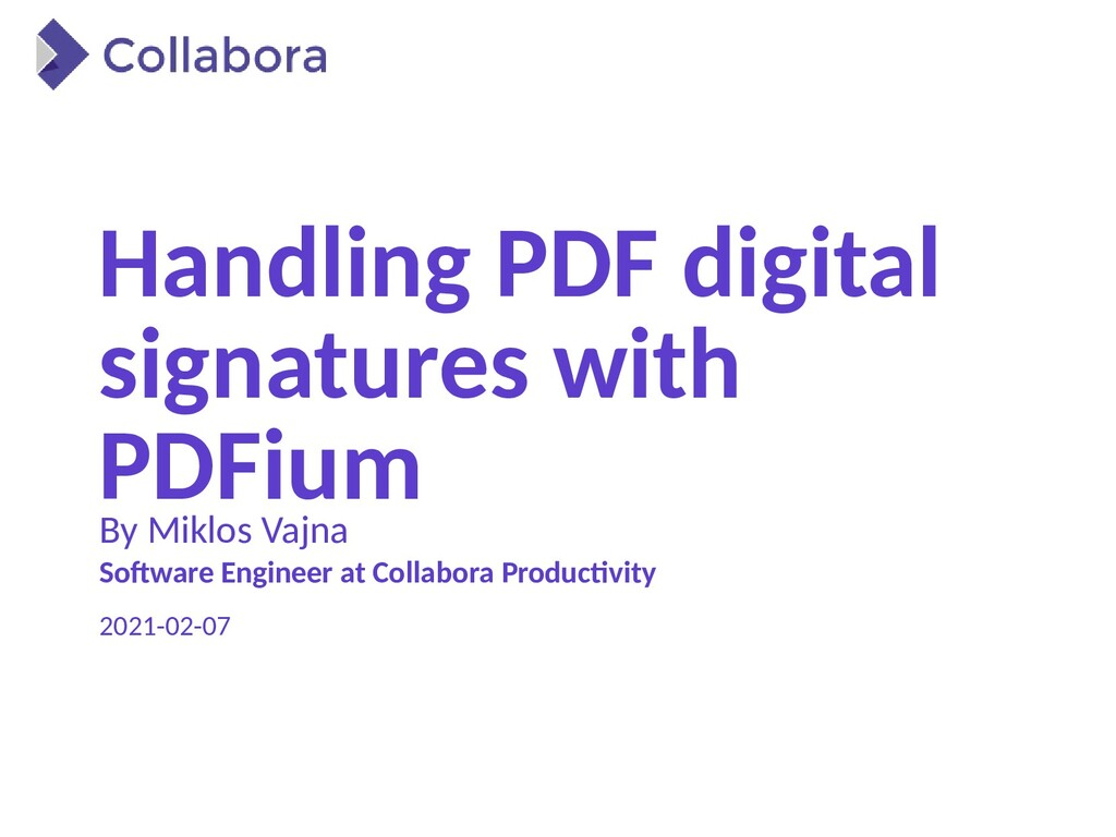 Handling PDF digital signatures with PDFium By ...