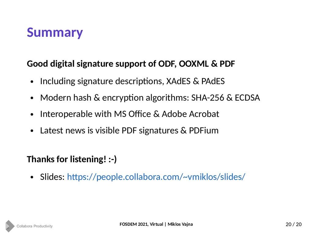 Collabora Productivity FOSDEM 2021, Virtual | M...