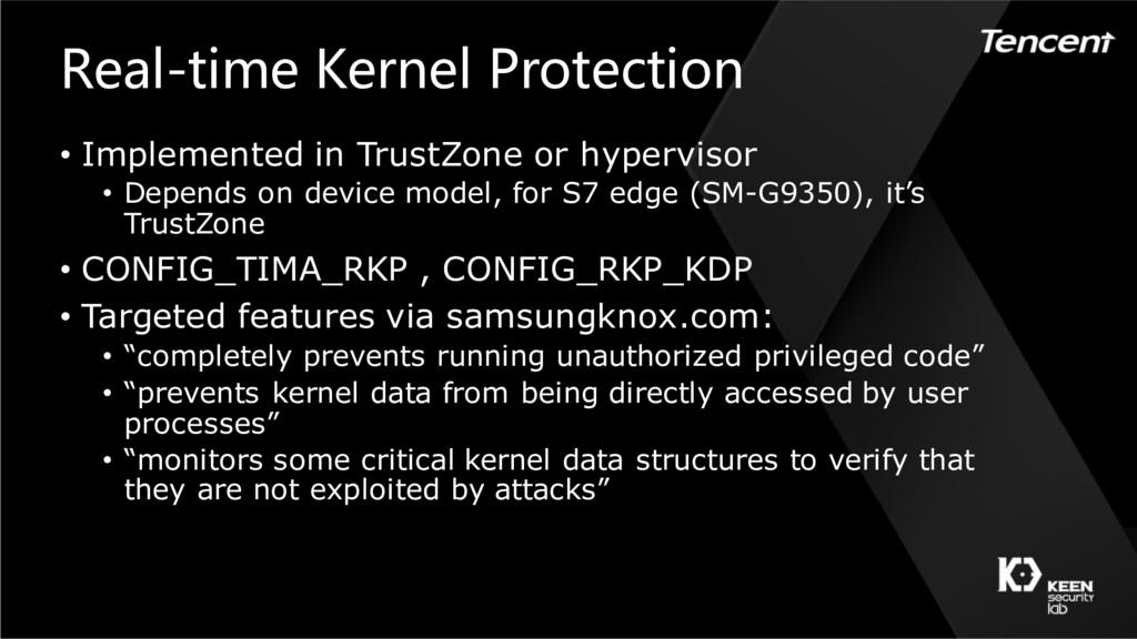 Real-time Kernel Protection • Implemented in Tr...