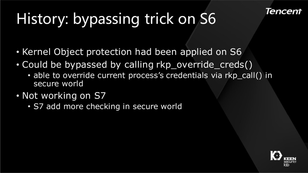 History: bypassing trick on S6 • Kernel Object ...