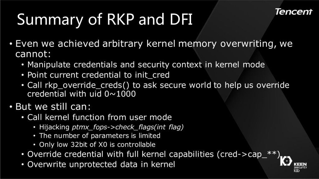 Summary of RKP and DFI • Even we achieved arbit...
