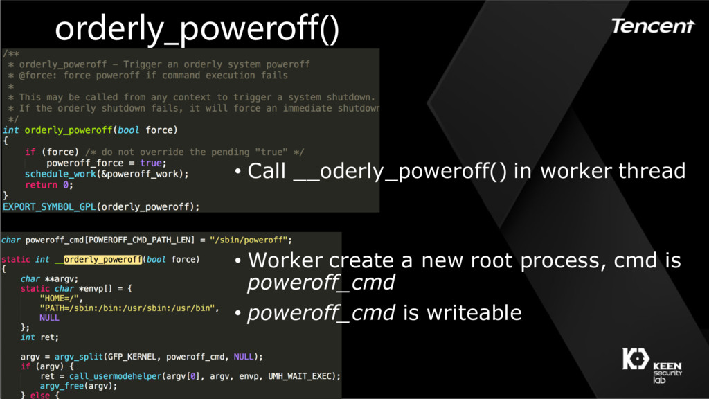 orderly_poweroff() • Call __oderly_poweroff() i...