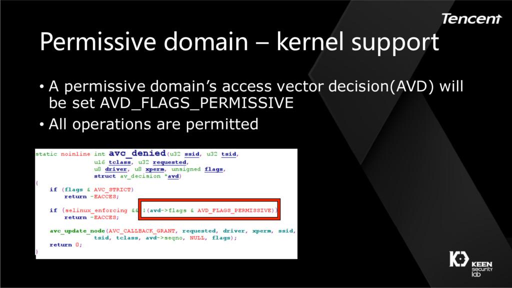 Permissive domain – kernel support • A permissi...