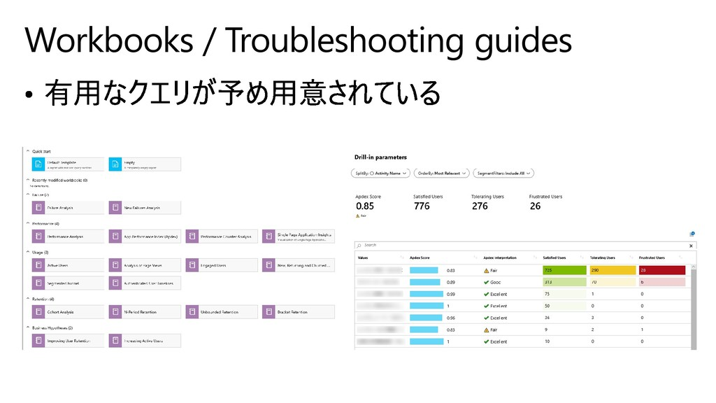 Workbooks / Troubleshooting guides
