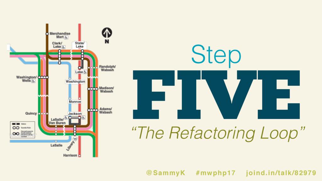 "FIVE Step ""The Refactoring Loop"" @SammyK #mwphp..."