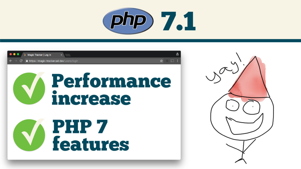 7.1 ✓Performance increase PHP 7 features ✓