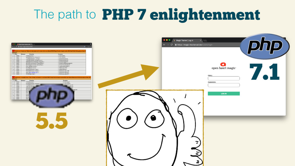 7.1 5.5 PHP 7 enlightenment The path to