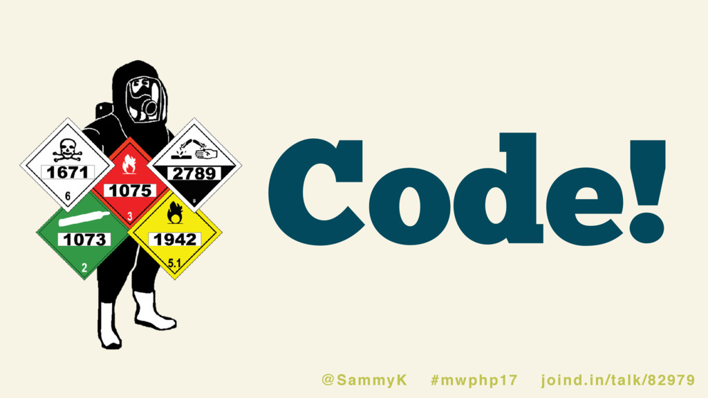 Code! @SammyK #mwphp17 joind.in/talk/82979