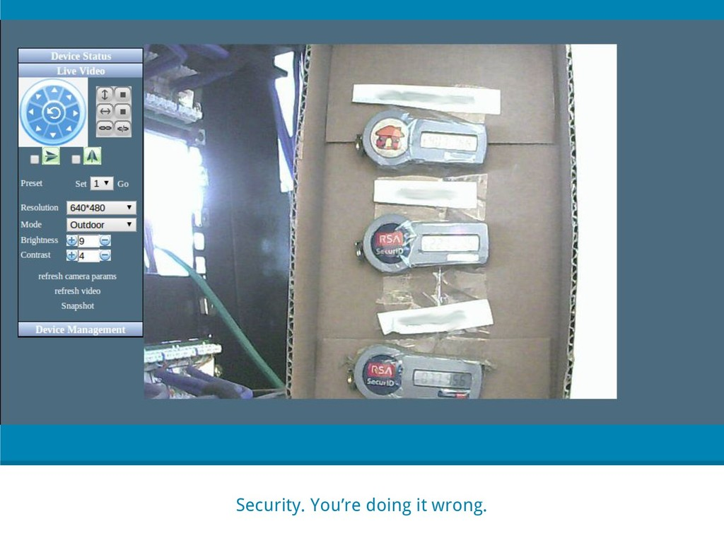 Security. You're doing it wrong.