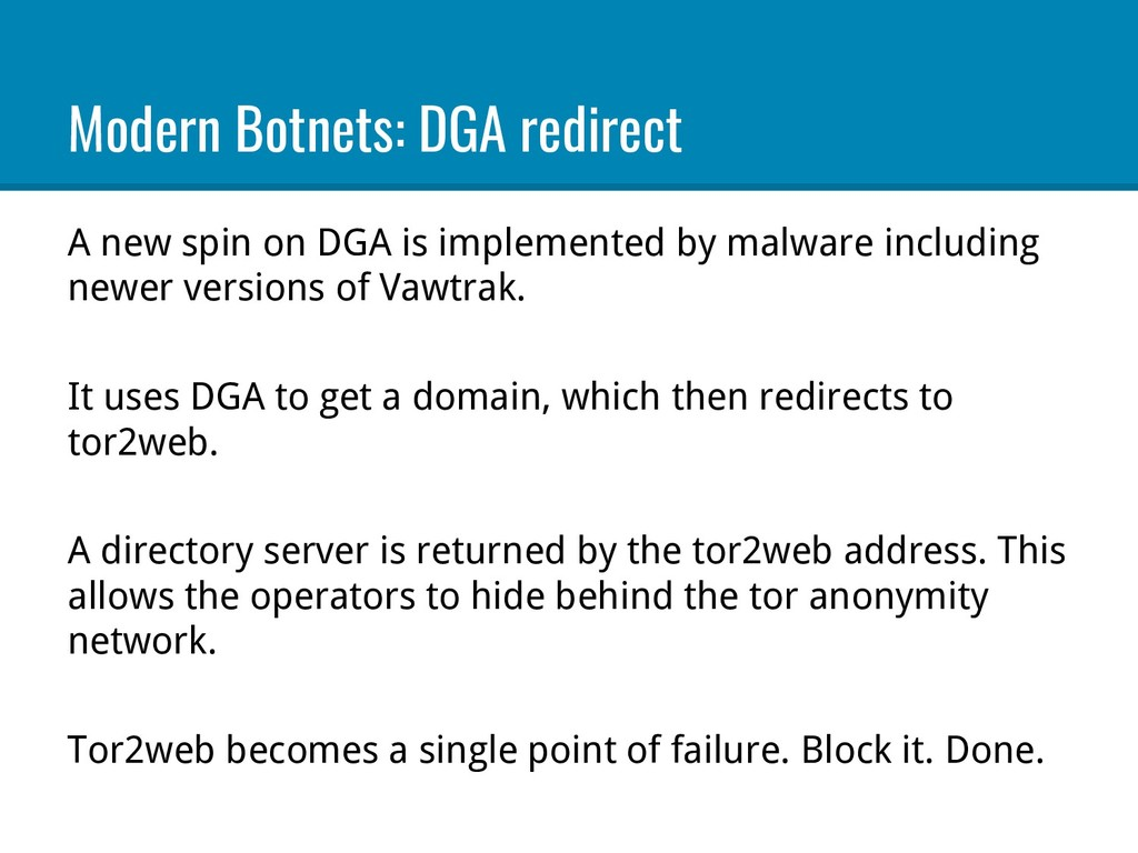 Modern Botnets: DGA redirect A new spin on DGA ...