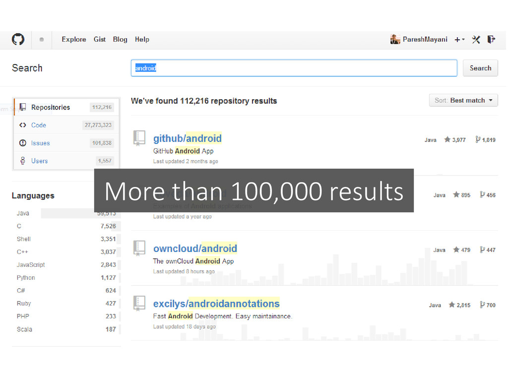 More than 100,000 results