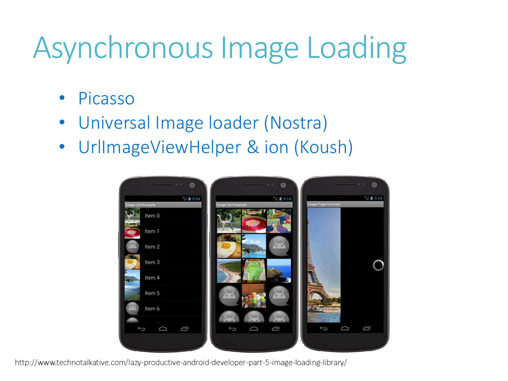 Asynchronous Image Loading • Picasso • Universa...