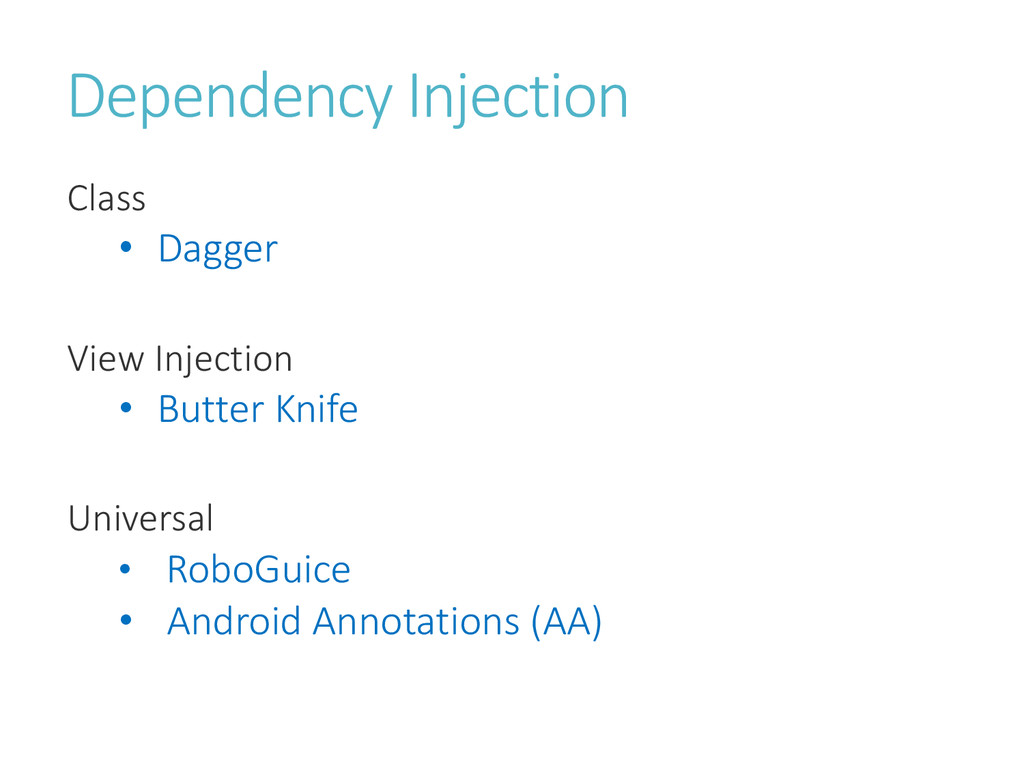 Dependency Injection Class • Dagger View Inject...