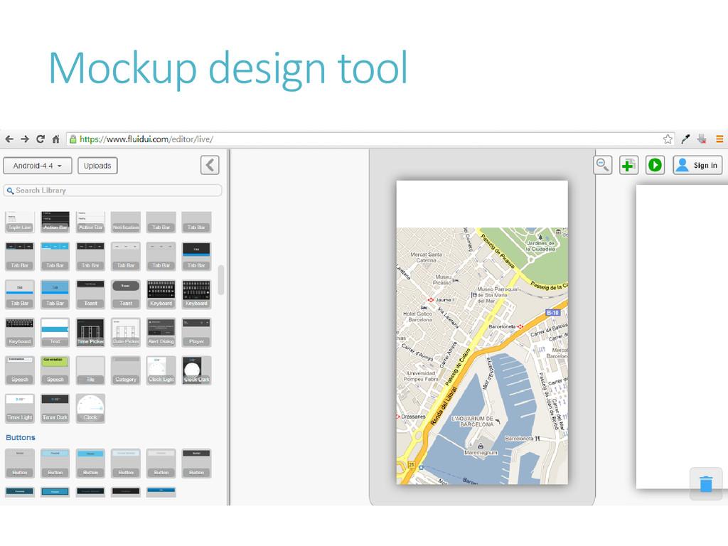 Mockup design tool