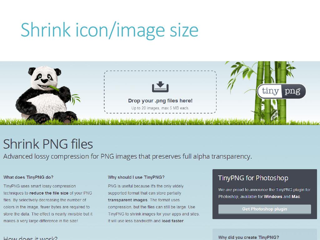 Shrink icon/image size