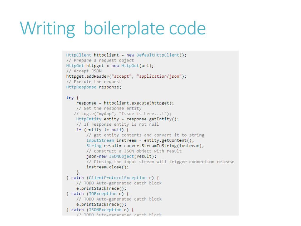 Writing boilerplate code