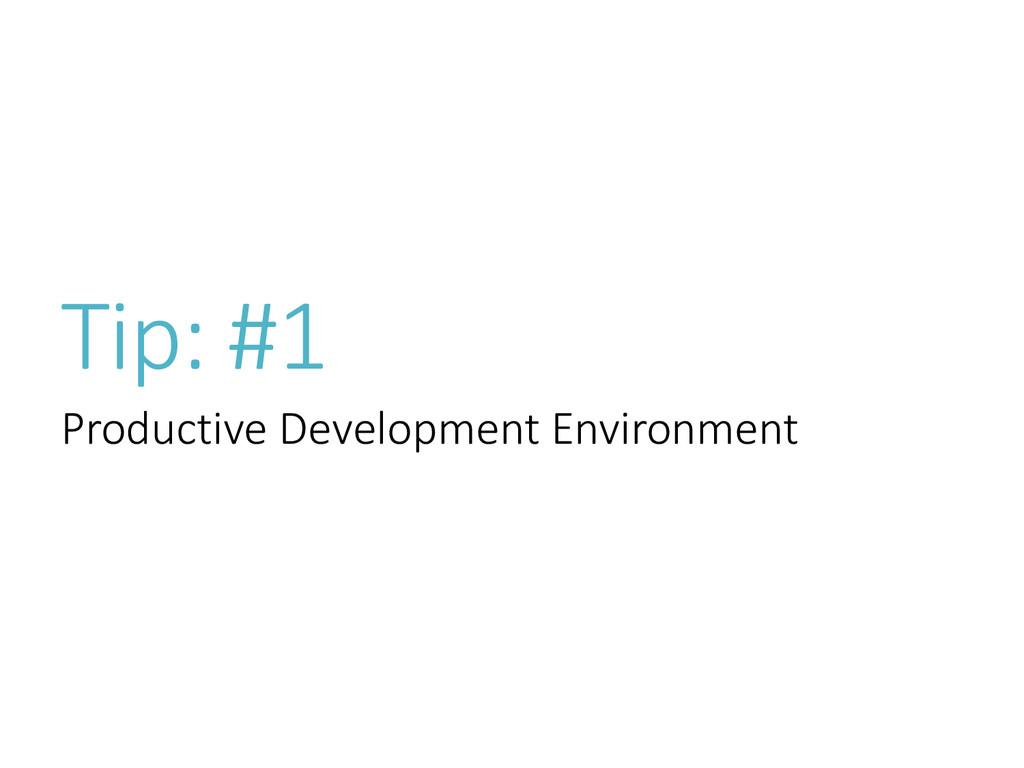 Tip: #1 Productive Development Environment