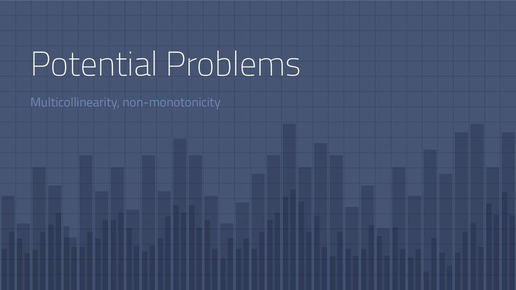 Multicollinearity, non-monotonicity Potential P...