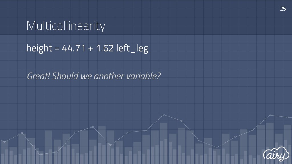 Multicollinearity height = 44.71 + 1.62 left_le...