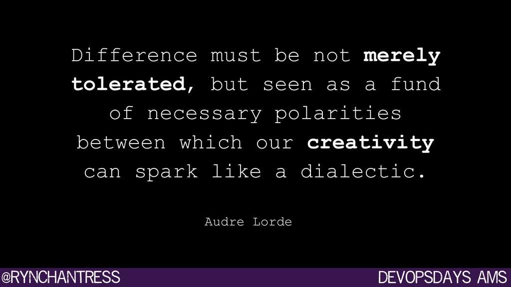 devopsdays ams @rynchantress Difference must be...