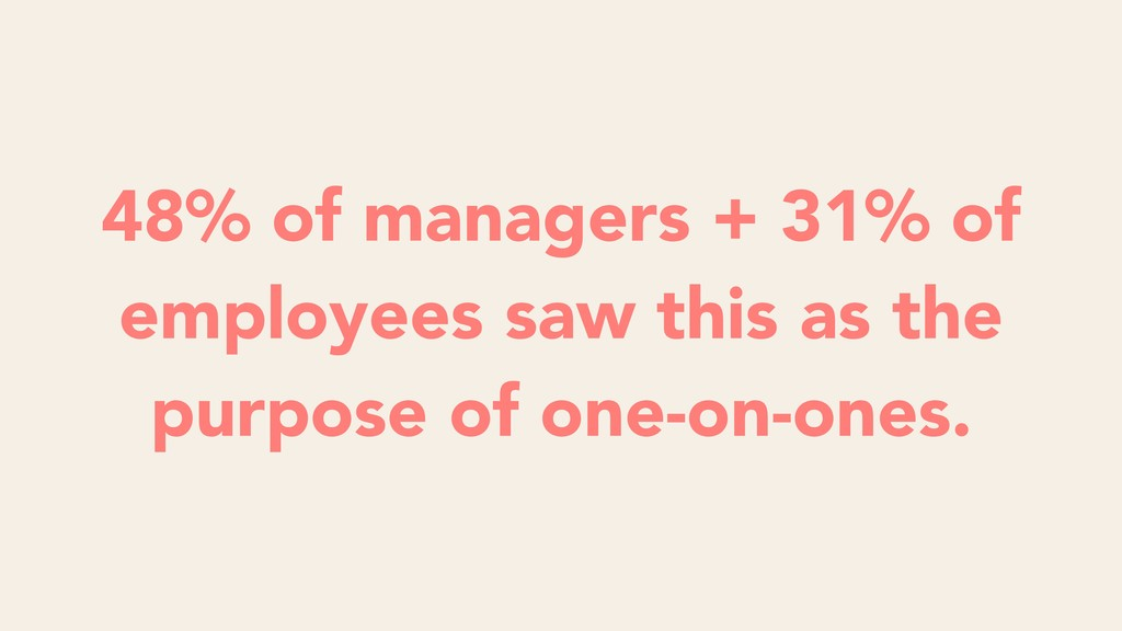 48% of managers + 31% of employees saw this as ...