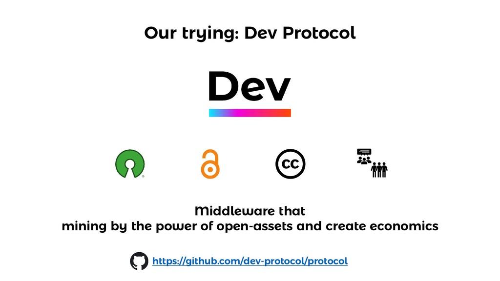 Our trying: Dev Protocol https://github.com/dev...