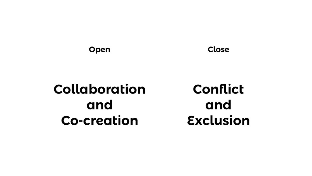 Open Close Collaboration and Co-creation Confli...