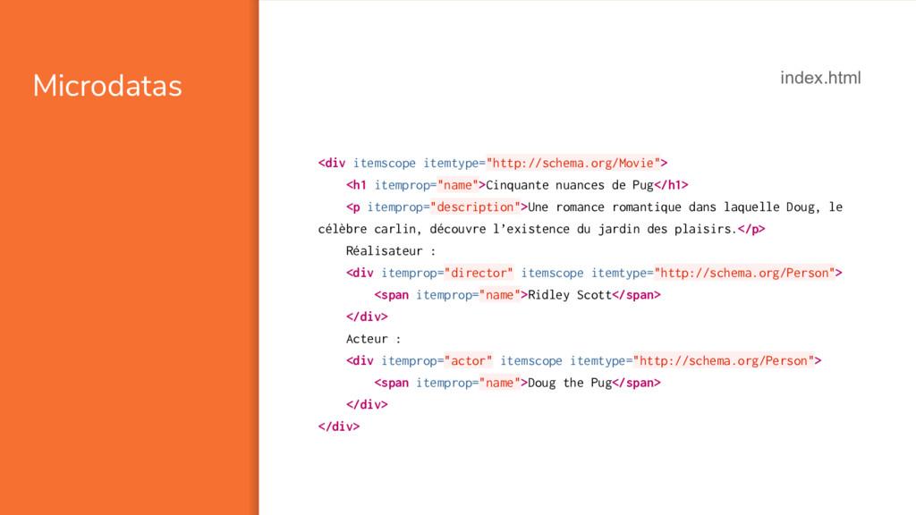 "Microdatas <div itemscope itemtype=""http://sche..."
