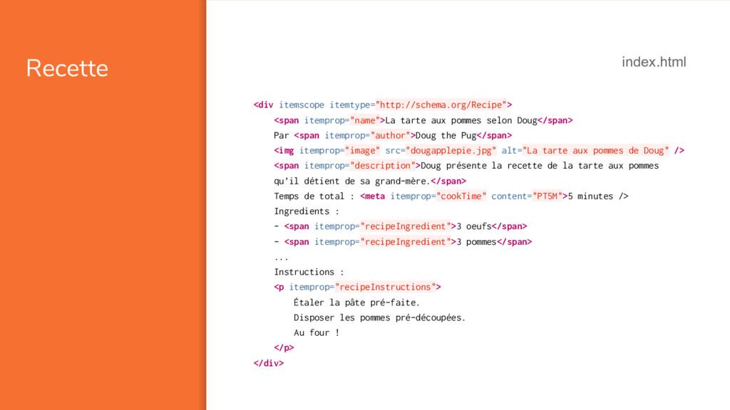 """Recette <div itemscope itemtype=""""http://schema...."""