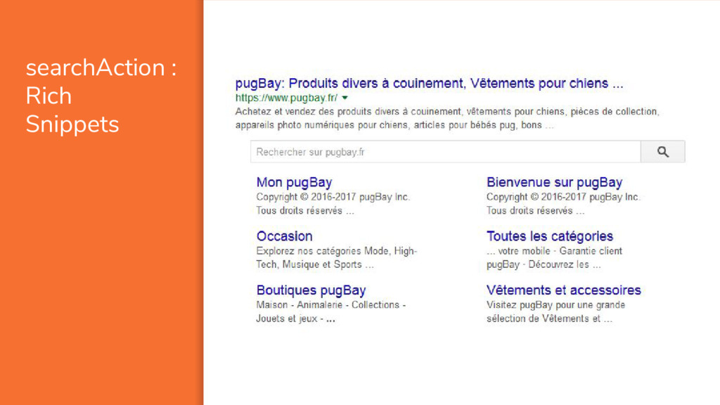 searchAction : Rich Snippets