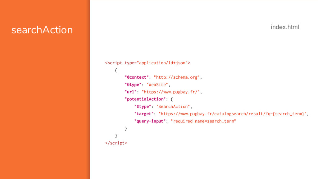 "searchAction <script type=""application/ld+json""..."