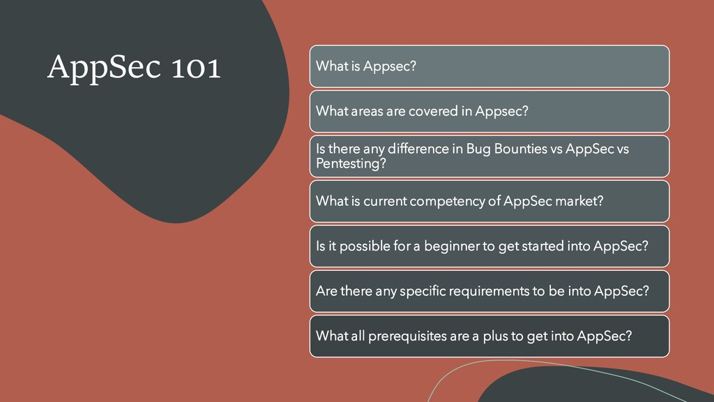 AppSec 101 What is Appsec? What areas are cover...
