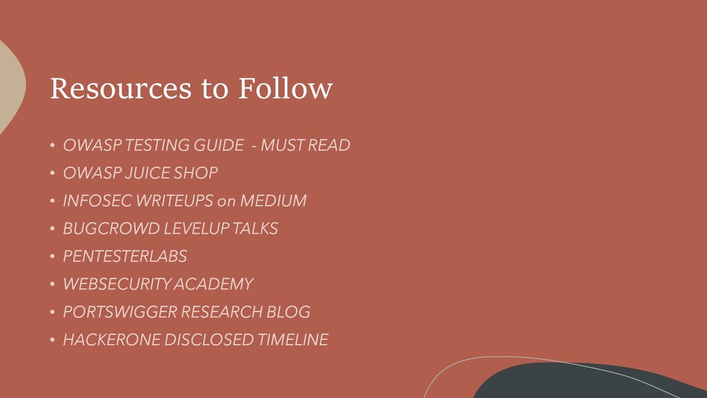 Resources to Follow