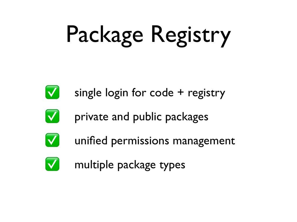 Package Registry single login for code + regist...