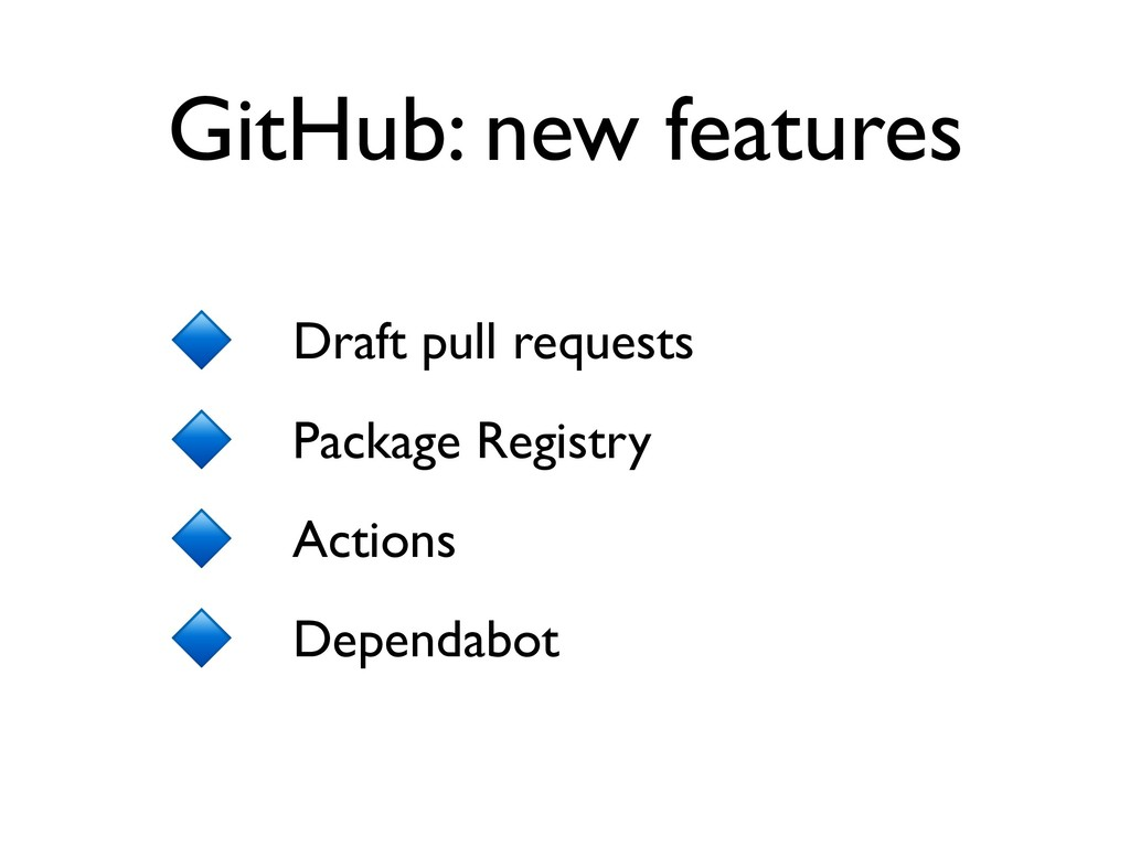 Draft pull requests Package Registry Actions De...