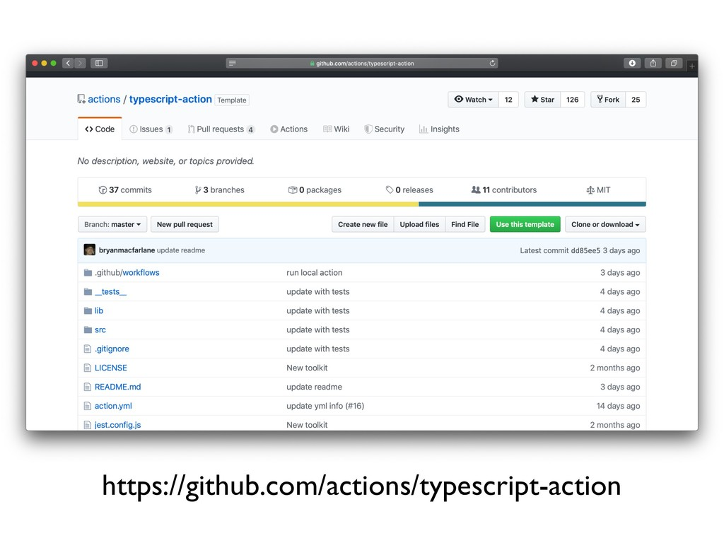 https://github.com/actions/typescript-action