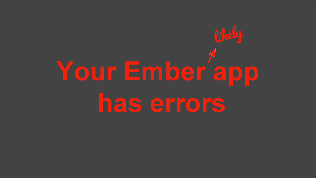 Your Ember app has errors likely