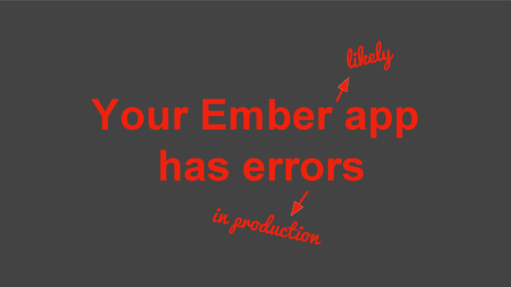 Your Ember app has errors likely in production