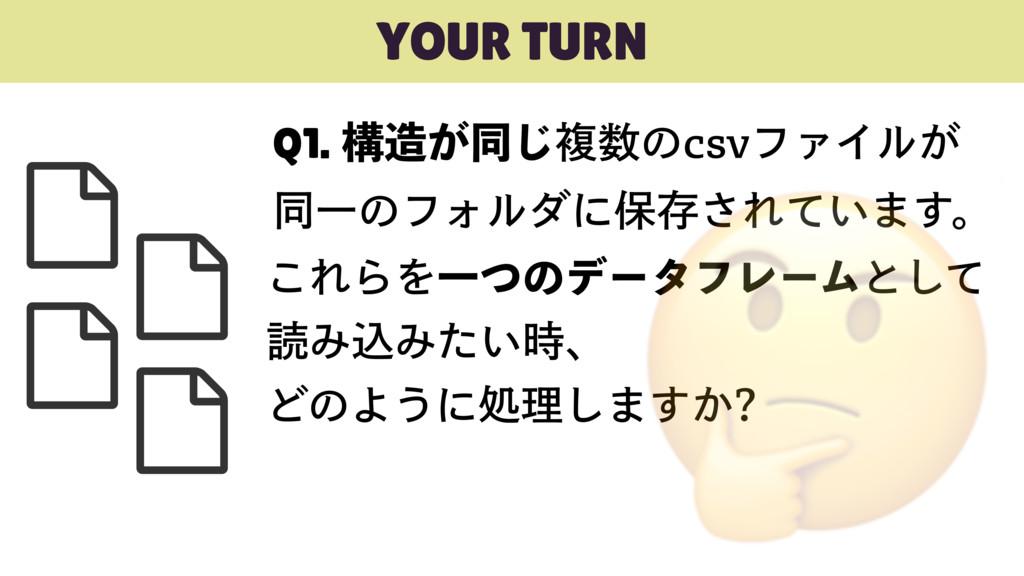 YOUR TURN Q1.ߏ͕ಉ͡ෳͷDTWϑΝΠϧ͕ ಉҰͷϑΥϧμʹอଘ͞Ε͍ͯ·...