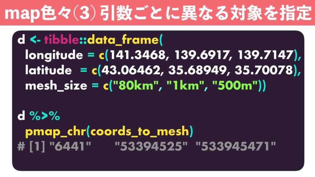 d <- tibble::data_frame( longitude = c(141.3468...