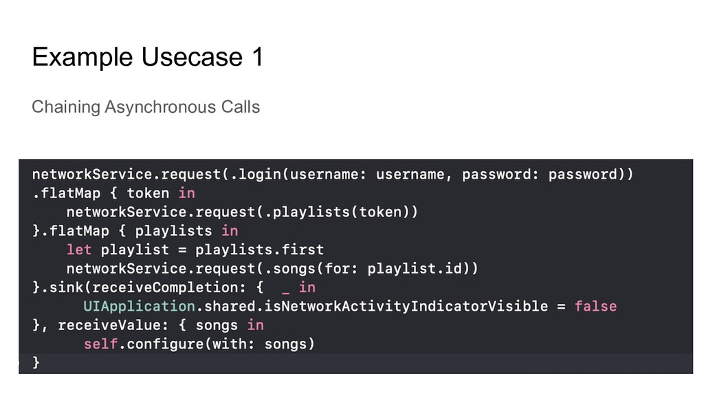 Example Usecase 1 Chaining Asynchronous Calls