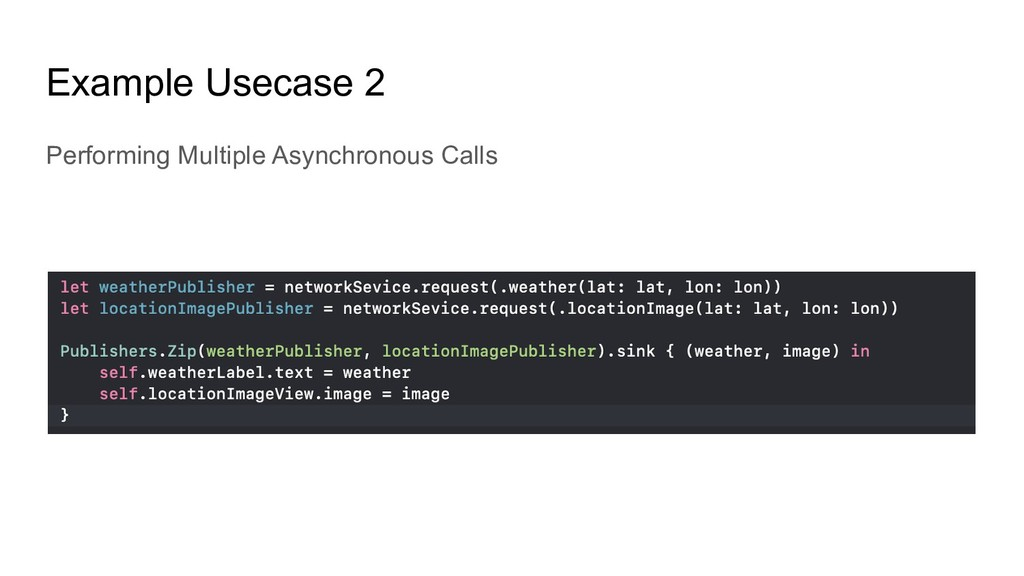 Example Usecase 2 Performing Multiple Asynchron...