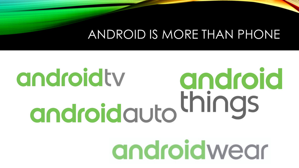ANDROID IS MORE THAN PHONE