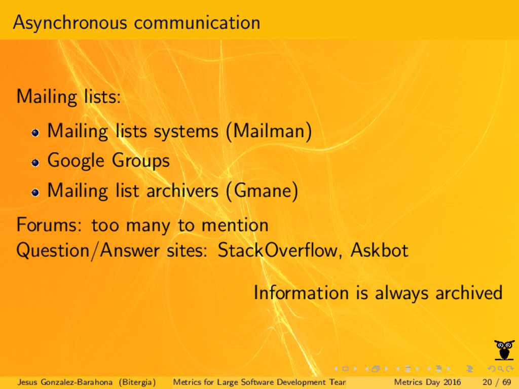 Asynchronous communication Mailing lists: Maili...